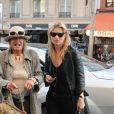 Kate Moss et Anita Pallenberg à Paris, en mars 2011.