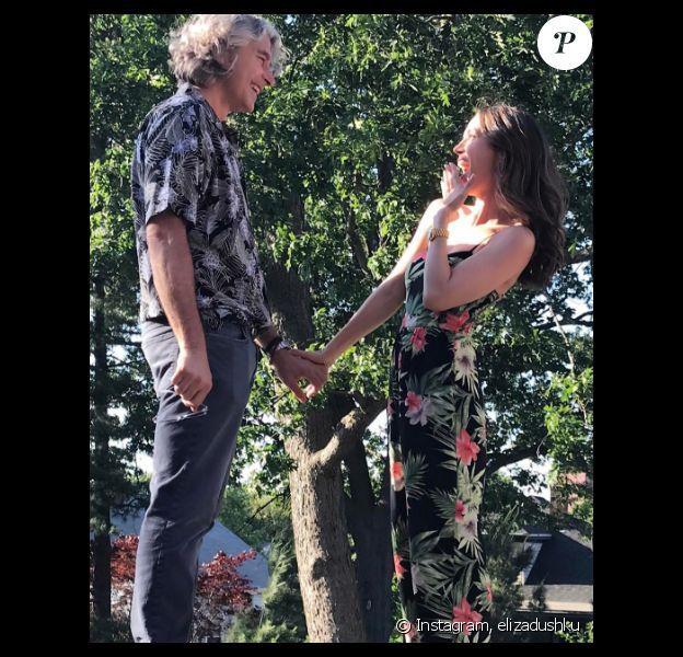 Eliza Dushku et son chéri Peter Palandjian sont fiancés. Photo publiée sur Instagram le 15 juin 2017