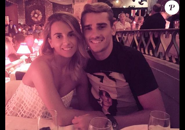 Antoine Griezmann et Erika Choperena. Photo Twitter Erika Choperena.