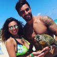 "Jessica Errero et Valentin Leonard des ""Marseillais"" sur une plage de Punta Cana - Instagram, 2017"