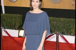 Angelina Jolie, une bête de mode qui décide de porter sa robe... à l'envers !