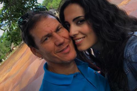 Rudi Garcia : En amoureux avec la belle Francesca Brienza à l'île Maurice