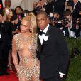 Beyonce, Jay-Z - Soirée Costume Institute Gala 2015 (Met Ball) au Metropolitan Museum, célébrant l'ouverture de Chine: à travers le miroir à New York. Le 4 mai 2015.