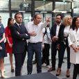 Emmanuel Macron et sa femme Brigitte Macron (Trogneux), Xavier Niel, Arnault, Anne Hidalgo inaugurent le plus grand incubateur de start-up au monde, Station F à Paris le 29 juin 2017. © Sébastien Valiela/Bestimage
