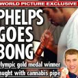 """Michael Phelps et sa """"pipe à cannabis"""" dans """"The News of The World"""""""