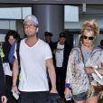 Britney Spears arrive à l'aéroport international Narita de Tokyo, le 31 mai 2017.