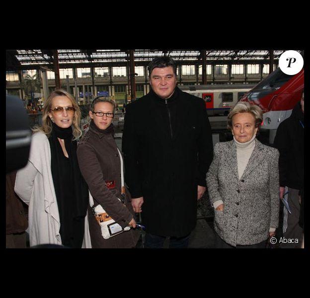 Estelle Lefébure, Lorie, David Douillet et Bernadette Chirac