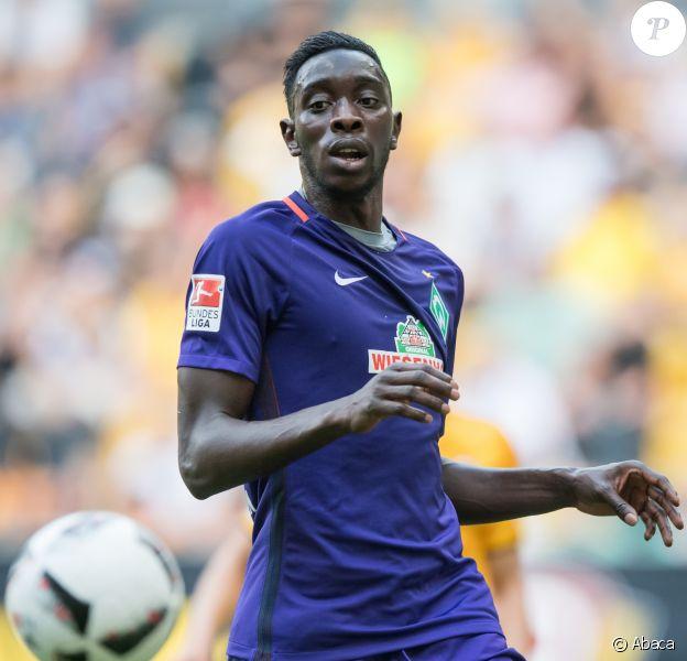 Sambou Yatabaré lors d'un match du SG Dynamo Dresde contre le SV Werder Brême au stade DDV à Dresde le 30 juillet 2016.