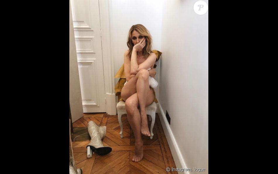 Céline Dion pose dénudée pour Vogue. Juillet 2017