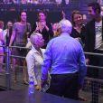 Linda Dion (soeur de Céline Dion) au concert à l'AccorHotels Arena, Paris le 4 juillet 2017. © Lionel Urman/Bestimage