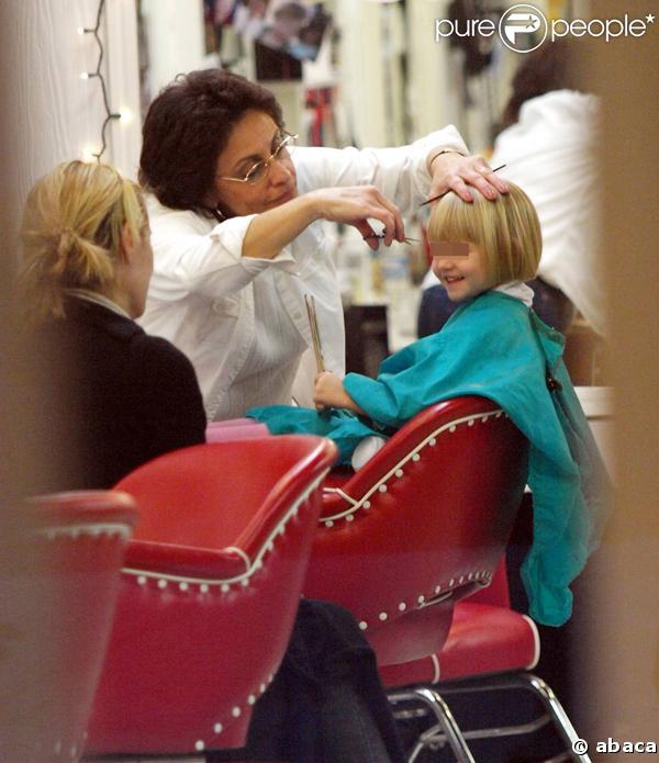 Heidi Klum et Leni chez le coiffeur à Los Angeles