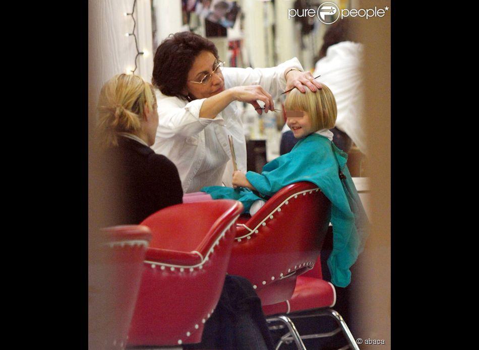 Heidi Klum et Leni chez le coiffeur à Los Angeles...