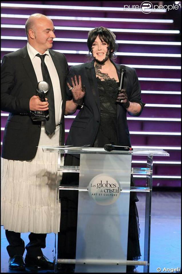 Isabelle Adjani à la soirée des Globes de Cristal. 02/02/09