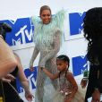 Beyonce knowles et sa fille Blue Ivy Carter aux MTV Video Music Awards 2016 à New York, le 28 août 2016