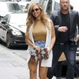 Semi-Exclusif- La chanteuse Beyonce arrive à son bureau de New York le 14 juillet 2015.