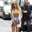 Semi-Exclusif- La chanteuse Beyonce arrive à son bureau de New York le 14 juillet 2015.