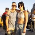"""Ali Lohan (Aliana Lohan) et son frère Michael Lohan Jr. - Soirée """"Ranbeeri Denim"""" (marque dont Ali Lohan est l'égérie) au rooftop Jimmy du James Hotel à New York, le 4 août 2015."""