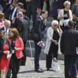 Line Renaud lors du défilé du 14 juillet (fête nationale), place de la Concorde, à Paris, le 14 juillet 2017, avec comme invité d'honneur le président des Etats-Unis. © Pierre Pérusseau/Bestimage