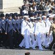 Le défilé du 14 juillet (fête nationale), place de la Concorde, à Paris, le 14 juillet 2017, avec comme invité d'honneur le président des Etats-Unis. © Pierre Pérusseau/Bestimage