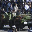 Le président de la République Emmanuel Macron et le général Pierre de Villiers lors du défilé du 14 juillet (fête nationale), place de la Concorde, à Paris, le 14 juillet 2017, avec comme invité d'honneur le président des Etats-Unis. © Pierre Pérusseau/Bestimage