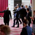 Le président des Etats-Unis Donald Trump et le président de la République Emmanuel Macron lors de la conférence de presse commune au palais de l'Elysée à Paris, le 13 juillet 2017, après leur entretien. © Thomas Padilla/Pool/Bestimage