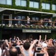 Roger Federer sacré pour la huitième fois à Wimbledon, à Londres, le 16 juillet 2017.