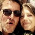 Benjamin Castaldi et sa compagne Aurore. Avril 2017.