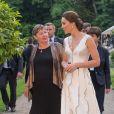La duchesse Catherine de Cambridge, sublime dans une robe de la créatrice polonaise Gosia Baczynska, et le prince William étaient les invités d'honneur d'une réception dans l'orangerie du parc Lazienki à Varsovie le 17 juillet 2017, lors de leur visite officielle en Pologne.