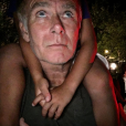 Franck Dubosc et son fils Milhan sur ses épaules - Photo publiée sur Instagram le 18 juillet 2017