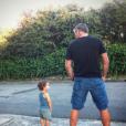 Franck Dubosc et son fils Milhan - Photo publiée sur Instagram en septembre 2016