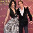 """Sylvie Ortega et Ludovic Chancel - Cérémonie des """"Gold prix de la TNT 2016"""" au Théâtre Bobino à Paris le 6 juin 2016. © Perusseau/Veeren/Bestimage"""