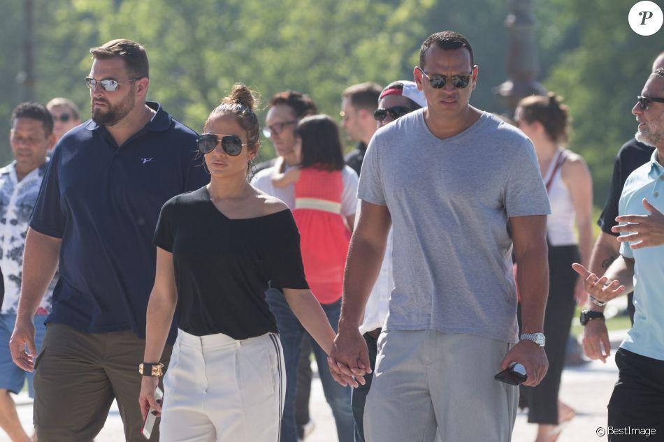 Jennifer Lopez et son compagnon Alex Rodriguez se ...