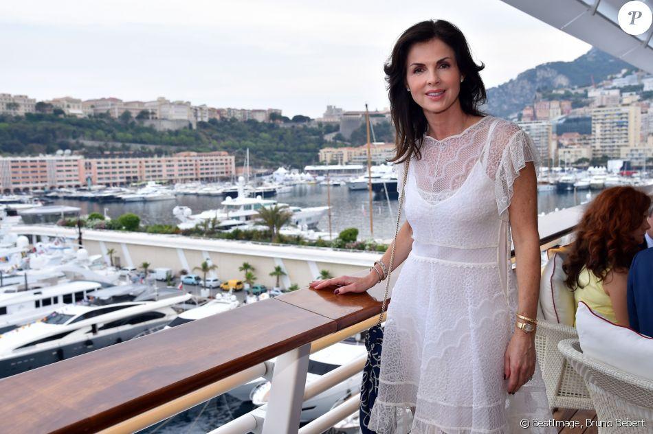 Exclusif - Caroline Barclay participe à la cérémonie d'intronisation des nouveaux membres du Yacht Club de Monaco le 21 juin 2017 au Yacht Club de Monaco. © Bruno Bebert / Bestimage