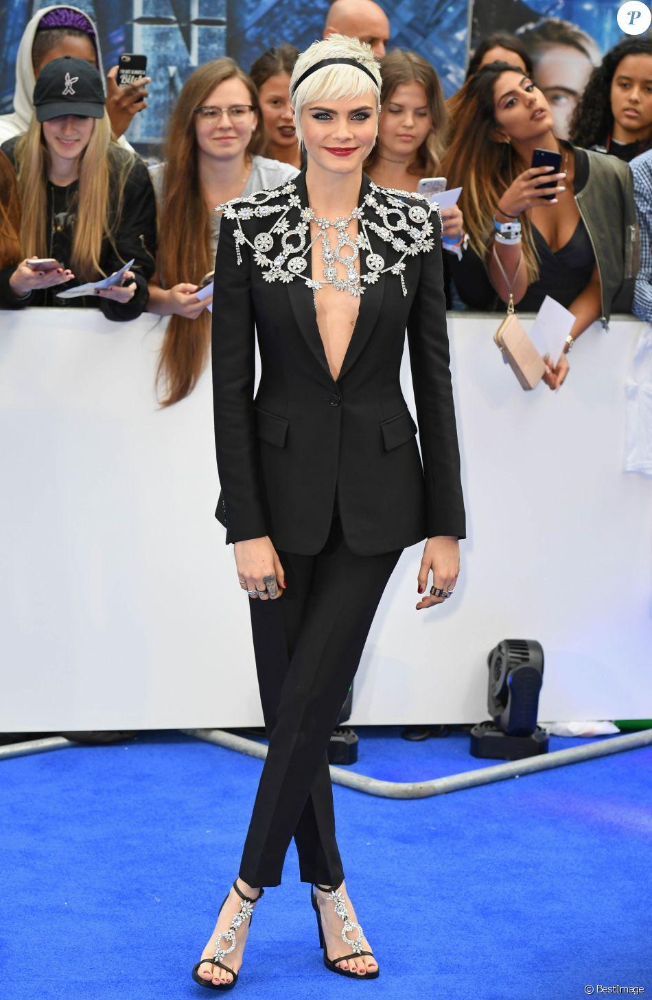 Cara Delevingne à la première de 'Valerian' au Cineworld à Leicester Square à Londres, le 24 juillet 2017