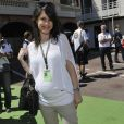 Marion Jolles-Grosjean (enceinte) - People au Grand Prix de Formule 1 a Monaco le 26 mai 2013.