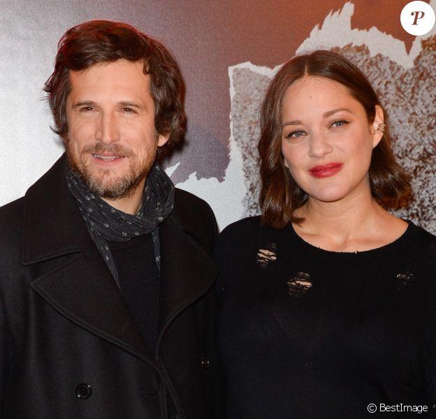 """Guillaume Canet et Marion Cotillard - Avant-première du film """"Rock'n Roll"""" au Pathé Beaugrenelle à Paris le 13 février 2017. © Coadic Guirec / Bestimage"""