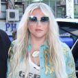 """La chanteuse Kesha à son arrivée dans les studios de la radio """"Z100's Elvis Duran and The Morning Show"""" à New York. Le 18 juillet 2017"""