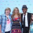 Tiffany Thornton, Allisyn Ashley Arm, Brandon Mychal Smith lors d'une soirée à Glendale, le 23 juin 2009