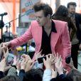 """Harry Styles sur le plateau de l'émission TV """"Today"""" à New York. Le 9 mai 2017."""