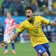 Neymar - Match d'ouverture de la Coupe du Monde entre le Brésil et la Croatie à Sao Paulo au Brésil le 12 juin 2014. Le Brésil à remporté le match sur le score de 3-1.
