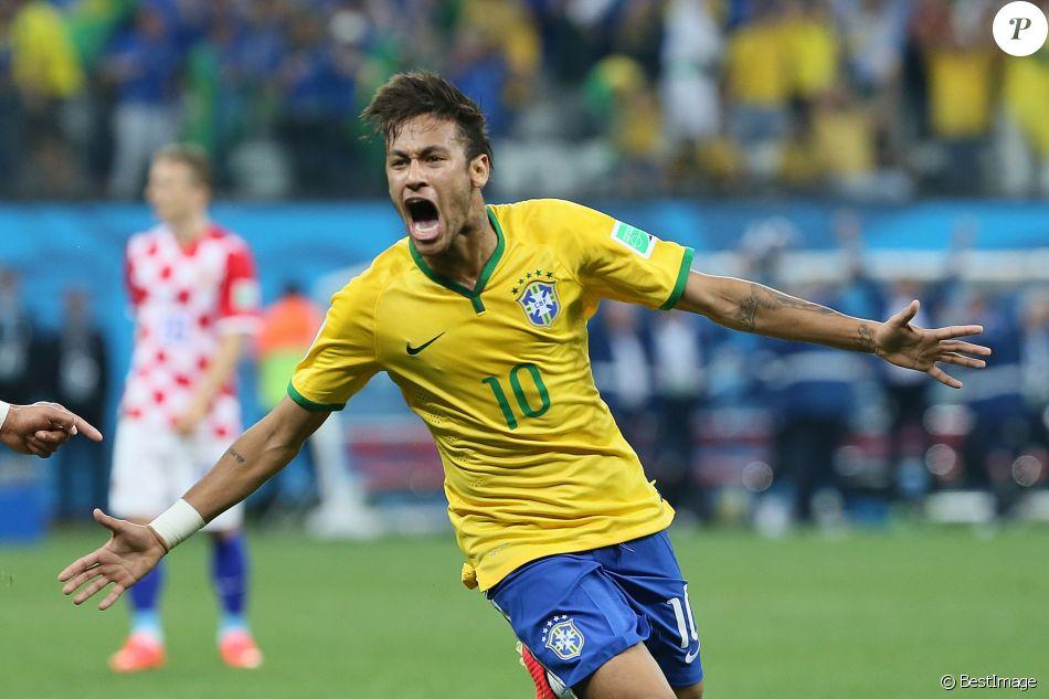 Neymar match d 39 ouverture de la coupe du monde entre le - Match d ouverture coupe du monde 2014 ...