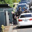 Exclusif - Famille, proches et amis aux obsèques de Chester Bennington (chanteur du groupe Linkin park qui s'est suicidé le 20 juillet 2017) à Palos Verdes le 29 juillet 2017