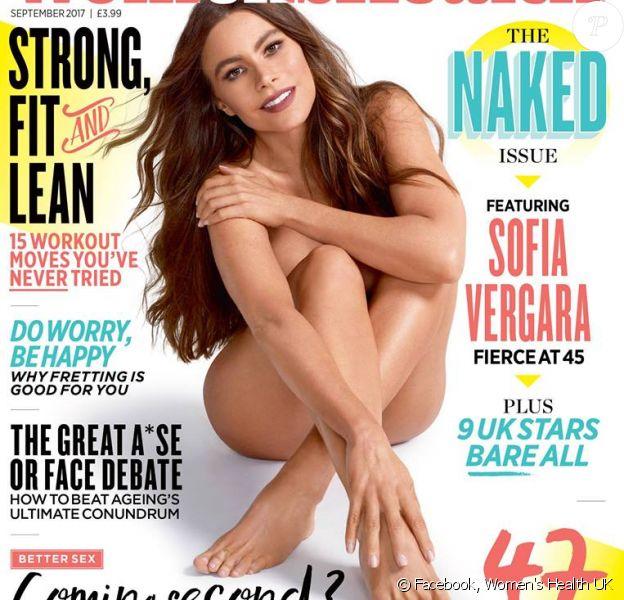 Sofia Vergara en couverture du magazine ''Women's Health UK''. Numéro de septembre 2017.