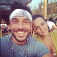 Pauline Ducruet avec son ami Maxime Giaccardi en vacances à Mykonos le 7 août 2017, photo Instagram de Maxime.