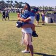 Pauline Ducruet dans les bras de Maxime Giaccardi lors de Coachella 2016, photo Instagram.