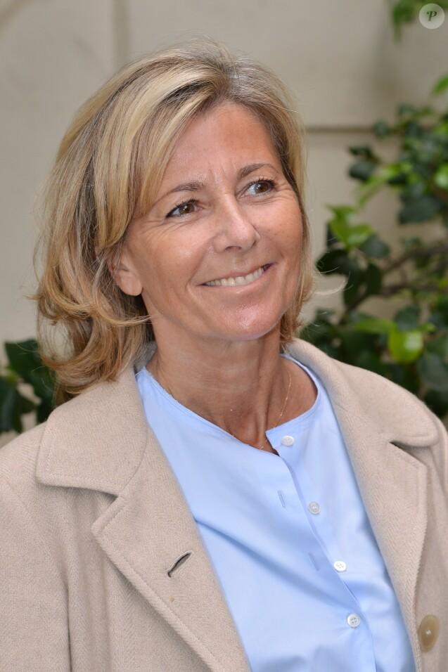 Claire Chazal à la conférence de presse de la Flamme Marie Claire à l'hôtel Marois dans les salons France-Amériques à Paris le 14 juin 2016.