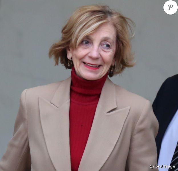 Nicole Bricq, ministre du commerce extérieur - Sortie du conseil des ministres au Palais de l'Elysée, à Paris, le 15 janvier 2014