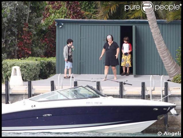 Rosie O'Donnell et ses fils Blake Christopher et Parker Jaren vont à la pêche ! 08/02/09