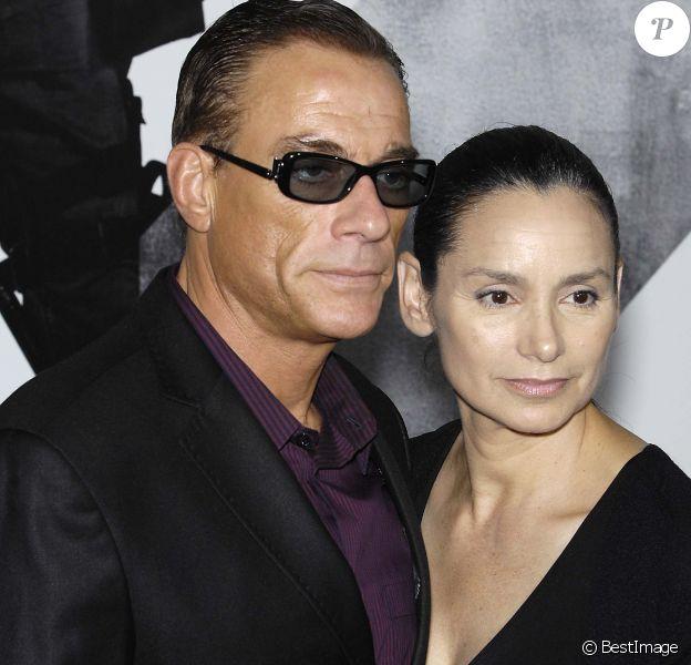 Jean-Claude Van Damme et Gladys Portugues à Los Angeles le 15/08/2012.