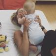 Victoria Azarenka et son fils Leo, né en décembre 2016. Photo Instagram du 7 juillet 2017.